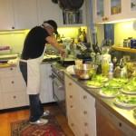 Chef preparing dinner.