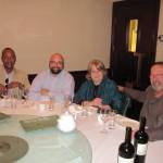 Rodney from DC Cuban Interest Section, Masen Davis (TGLC), Lin & Ron at Chinese Dinner